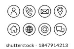 set contact us icon simple line ... | Shutterstock .eps vector #1847914213