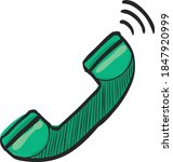 wireless phone icon in color...   Shutterstock .eps vector #1847920999