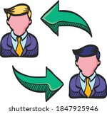 employee rotation icon in color ... | Shutterstock .eps vector #1847925946