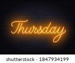 thursday neon sign on brick... | Shutterstock .eps vector #1847934199