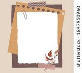 scrapbook composition with... | Shutterstock .eps vector #1847950960