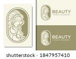 simple aesthetic female beauty... | Shutterstock .eps vector #1847957410