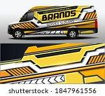vector delivery van design. car ... | Shutterstock .eps vector #1847961556