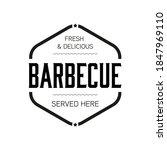 barbecue sign vintage stamp... | Shutterstock .eps vector #1847969110