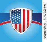 usa flag shield background... | Shutterstock .eps vector #1847969599