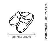 sheepskin shearling slippers...   Shutterstock .eps vector #1847975176