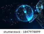 artificial intelligence. cyborg ... | Shutterstock .eps vector #1847978899