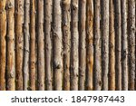 Wooden Fence. Wooden Trunks....