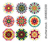 kaleidoscope geometric pattern. ... | Shutterstock .eps vector #184800200