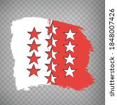 flag canton of valais brush...