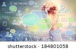 social media texts and cartoon... | Shutterstock . vector #184801058