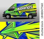 vector delivery van design. car ... | Shutterstock .eps vector #1848047560