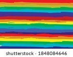 horizontal rainbow watercolor... | Shutterstock .eps vector #1848084646