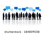 silhouette of business people... | Shutterstock . vector #184809038