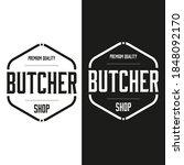 premium quality butcher shop... | Shutterstock .eps vector #1848092170