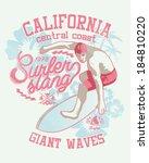 surfer vector graphic for...   Shutterstock .eps vector #184810220