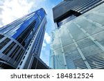 skyscraper from low angle | Shutterstock . vector #184812524