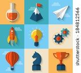 flat design modern vector... | Shutterstock .eps vector #184812566
