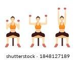 women doing military dumbbell... | Shutterstock .eps vector #1848127189
