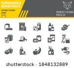 supermarket departments glyph... | Shutterstock .eps vector #1848132889