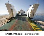 Car Ferry Boat In Croatia...