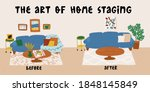 the art of home staging before... | Shutterstock .eps vector #1848145849