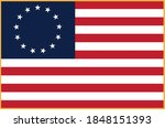 betsy ross flag isolated vector ... | Shutterstock .eps vector #1848151393
