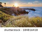 Sunset At La Jolla Cove Beach ...