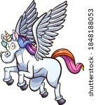 flying cartoon pegasus unicorn. ... | Shutterstock .eps vector #1848188053