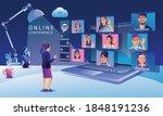 businessmen use video...   Shutterstock .eps vector #1848191236