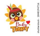 baby turkey illustration for...   Shutterstock .eps vector #1848194716