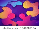 futuristic banner with abstract ...   Shutterstock .eps vector #1848202186