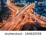 closeup of the modern city... | Shutterstock . vector #184820558