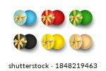 set of round gift boxes... | Shutterstock .eps vector #1848219463