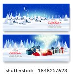 holiday christmas and new year... | Shutterstock .eps vector #1848257623