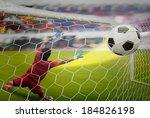 goal highlight   shooting shot... | Shutterstock . vector #184826198