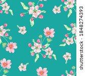 floral design background apple...   Shutterstock . vector #1848274393
