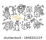 dancing fruit vector... | Shutterstock .eps vector #1848331219