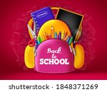 back to school vector backpack... | Shutterstock .eps vector #1848371269