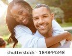 portrait of loving african... | Shutterstock . vector #184844348
