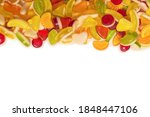 assorted tasty gummy candies.... | Shutterstock . vector #1848447106