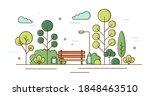 beautiful scenery of garden...   Shutterstock .eps vector #1848463510