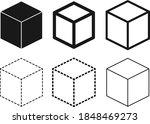 cube icon set   vector | Shutterstock .eps vector #1848469273