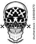 skull graphic illustration | Shutterstock .eps vector #184848470