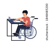 the student with a disability...   Shutterstock .eps vector #1848485200