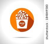 vector popcorn icon. eps10   Shutterstock .eps vector #184849580