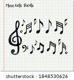 vector set of hand drawn music...   Shutterstock .eps vector #1848530626
