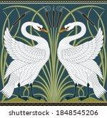 White Swan Decorative Border...