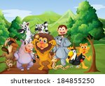 illustration of a group of... | Shutterstock .eps vector #184855250
