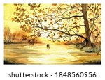 Autumn Themed Watercolor...